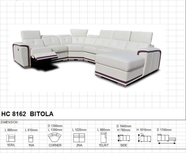 Bitola Modular Corner Leather Sofa