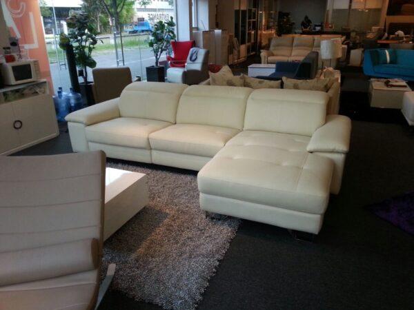 Vanessa L Italy Full Leather Sofa