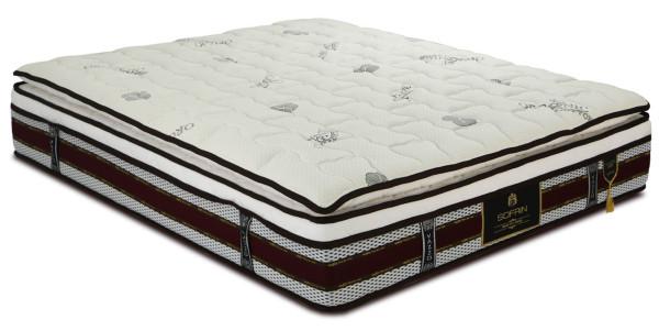 "Vazzo Sofrin 3"" Memory Foam Pillow Top 12.5'' 5 Zone Pocket Spring Mattress"