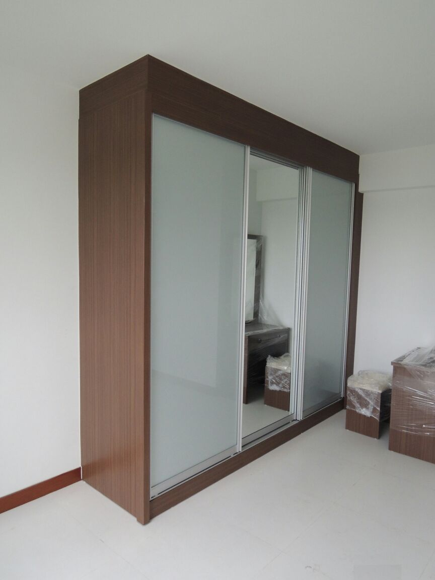 Customised Walnut Sliding Wardrobe