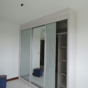 Customised White Sliding Wardrobe