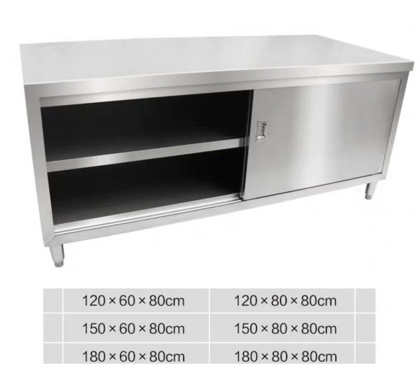 Stainless Steel Sliding Door Kitchen Cabinet