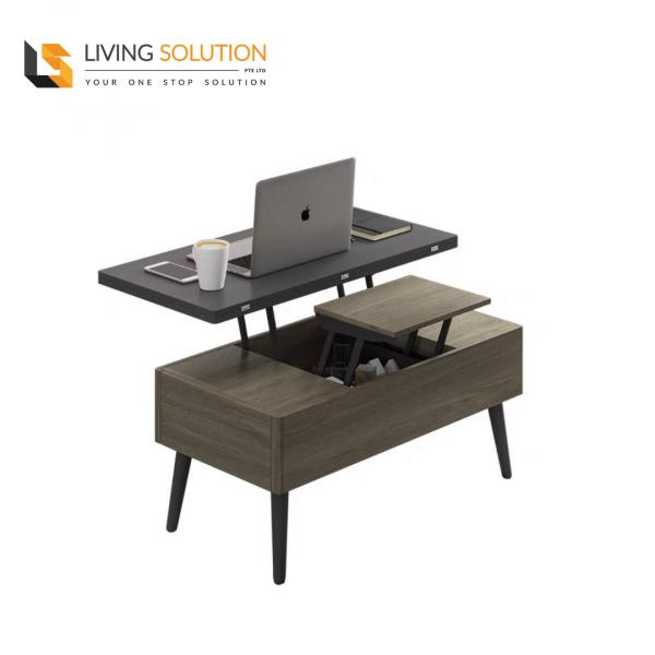 Bora Multi Functional Coffee Table Grey Oak