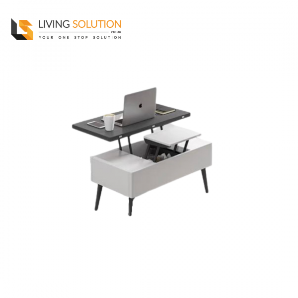 Bora Multi Functional Coffee Table Grey White