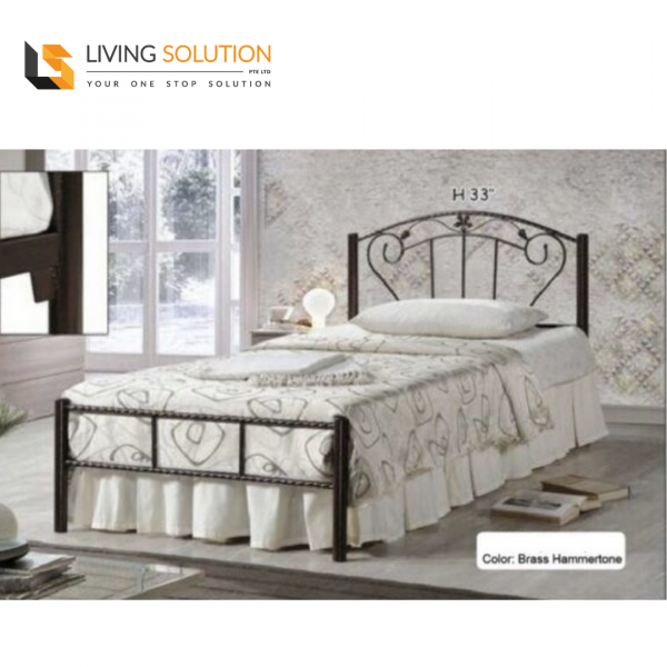 Contemporary Single Metal Bed Frame