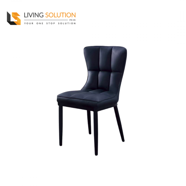 Joli Dining Chair Black Legs Black