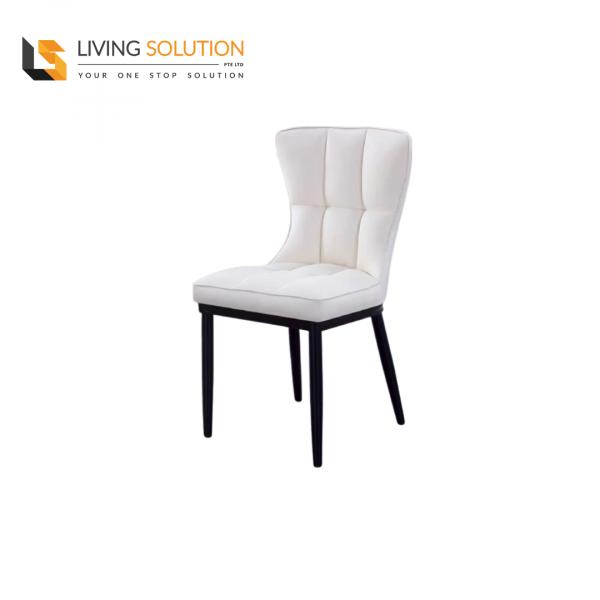 Joli Dining Chair Black Legs Cream