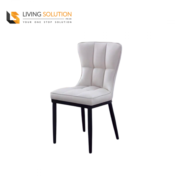Joli Dining Chair Black Legs Cream Grey
