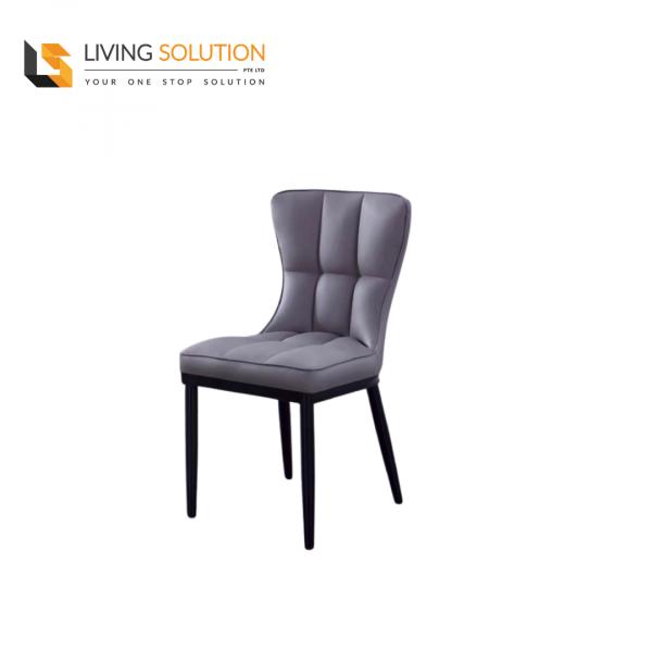 Joli Dining Chair Black Legs Grey