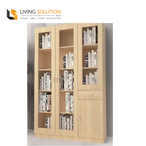 Ophir 3 Door Bookshelf