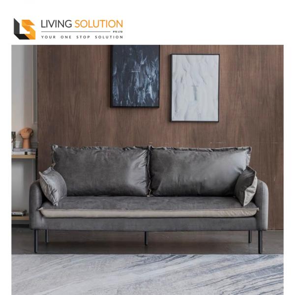 Georgi Grey Fabric Sofa