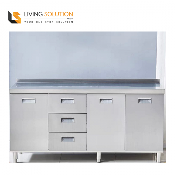 160cm Stainless Steel Kitchen Cabinet with Drawers